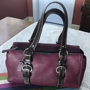 COACH Pebbled Leather Carryall